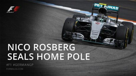 Nico Rosberg Seals Home Pole Formula 1 German Grand Prix 2016 pertamax7.com