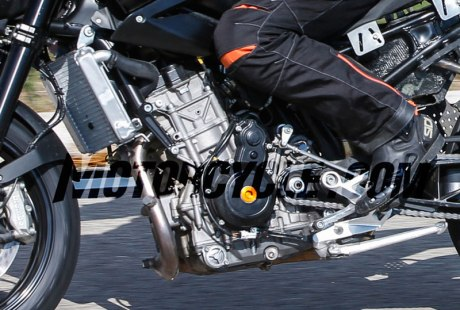 Spied New KTM 890 Duke Twin Inline