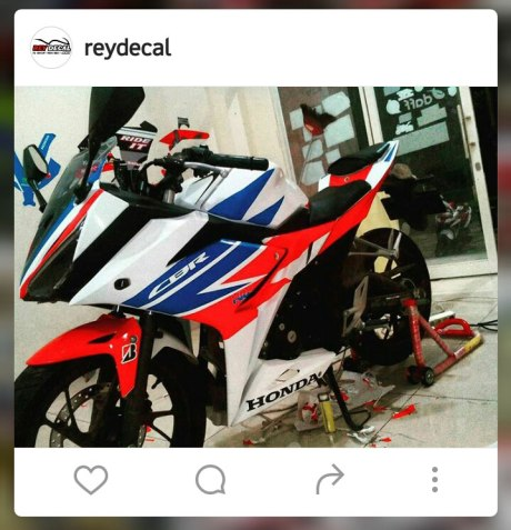 Modifikasi All New Honda CBR150R Decal Tri Colour RWB pertamax7.com