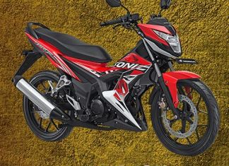 New Honda Sonic 150R energetic red Pertamax7.com