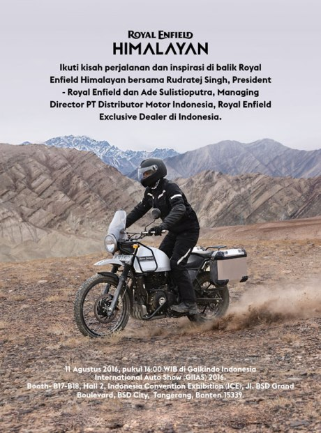 Launching Royal Enfield Himalayan di Indonesia