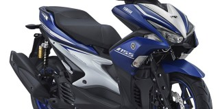 AEROX 155 VVA R Version warna biru Racing Blue pertamax7.com