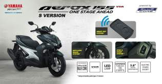 Yamaha Aerox 155 VVA S-version ABS Smart Key System SSS pertamax7.com
