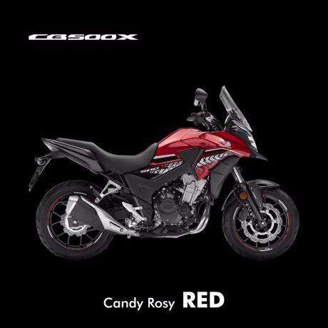 Honda CB500X Candy Rosy Red