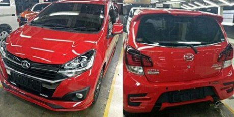 All New Daihatsu Ayla 2017 merah