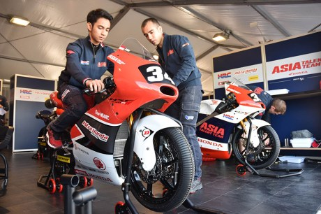 Honda NSF250RW Andi Gilang Asia Talent Team AHRT CEV Moto3 Junior World Championship
