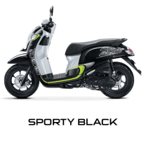 Honda Scoopy 12 inchi sporty black scoopy new 2017 trans
