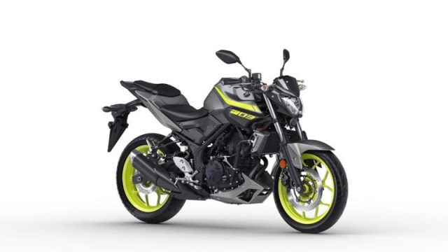 2018 Yamaha MT-03 Warna Night Fluo Depan kanan