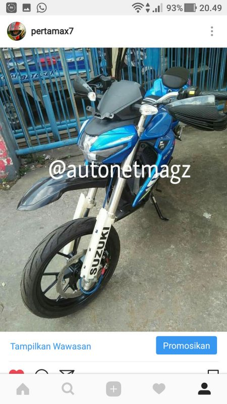 Modifikasi Suzuki GSX-S150 ala Supermoto
