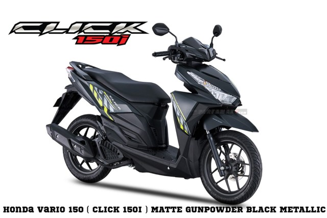 Honda Click 150i Warna Matte GunPowder Black Metallic Vario 150 eSP