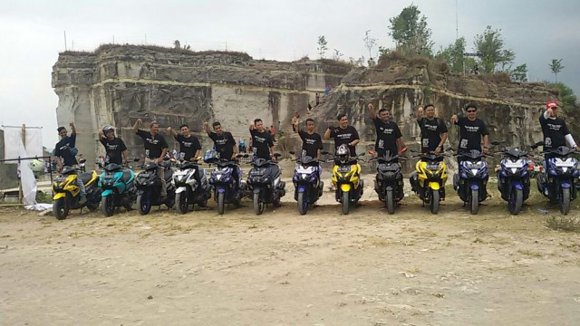 Touring Yamaha Aerox 155 Rider Club Indonesia