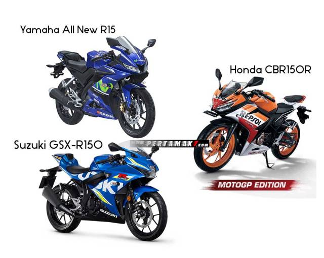 Penjualan Honda CBR150R VS Yamaha All New R15 VS Suzuki GSX-R150 Penjualan Yamaha All New R15