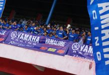 Supporter Yamaha Racing Indonesia di ARRC Sentul 2017