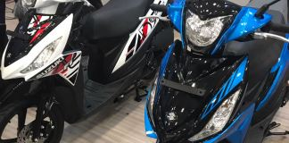 Suzuki Address Facelift Striping 2017