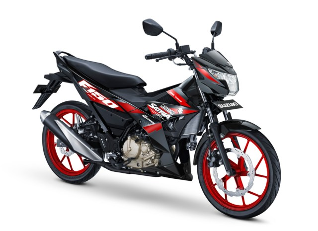 All New Suzuki Satria F150 Injeksi Warna Hitam Meraj Titan Black Red