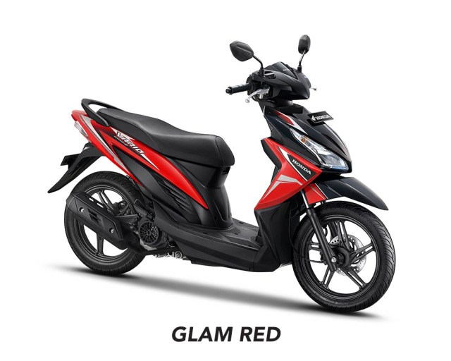 Honda Vario 110 eSP Facelift 2017 Warna Glam Red