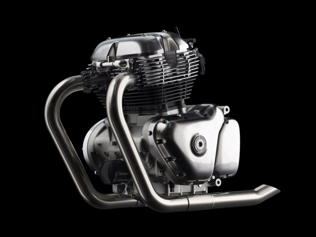 Royal Enfield 648cc Twin Engine Without Oil Cooler view- LHS