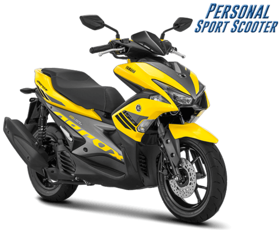 Yamaha Aerox 155 VVA facelift 2018 Warna Kuning Yellow