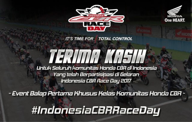 Indonesia CBR Race Day 2017