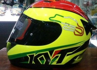 KYT RC7 Flat Visor Smoke Joe Brother Custom