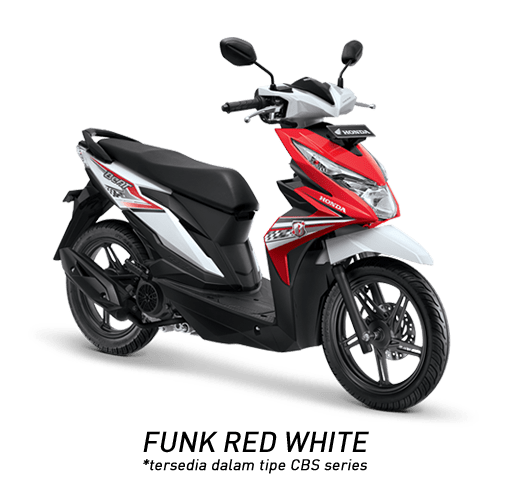 Honda Beat 2018 merah putih funk red white