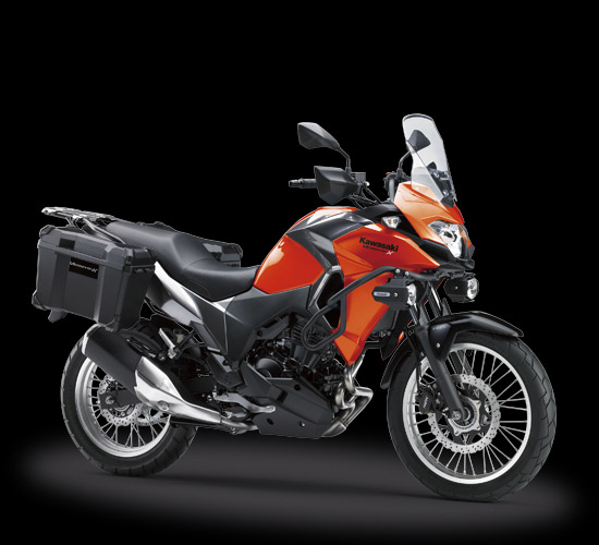 Kawasaki versys-X 250 Tourer Version warna oranye
