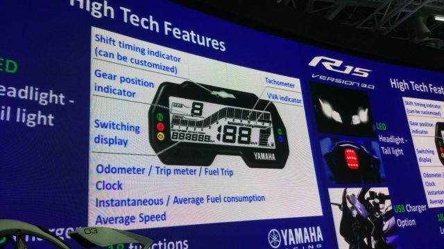 Fitur Speedometer Yamaha All new R15 India
