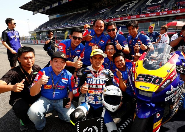 Rafid Topan podium runnerr-up di race 2