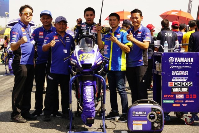 Richard Taroreh Finish Posisi ke-8 Race 2