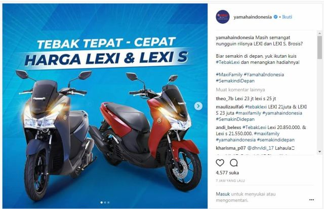 Launching Yamaha Lexi 125 Selasa 17 April 2018