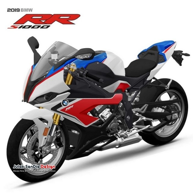 2019 BMW S100RR By Julak Sendie Light White Lupin Blue Metallic Racing Red