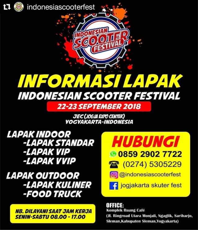 Jelang Indonesian Scooter Festival 2018