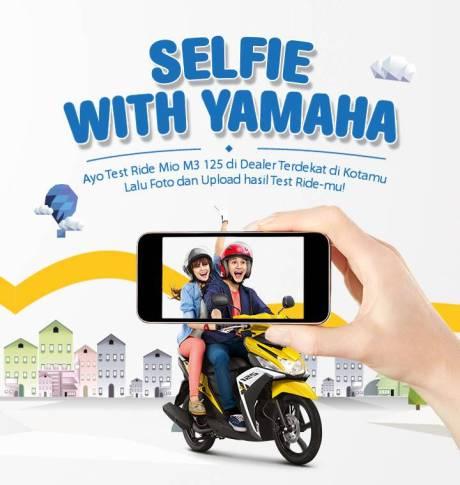 selfie with yamaha berhadian Mio M3