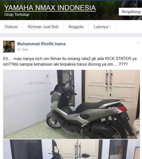 Setelah Beli, Baru Tahu Kalau Matic Premium Yamaha Nmax Nggak ada Kick Starter pertamax7.com