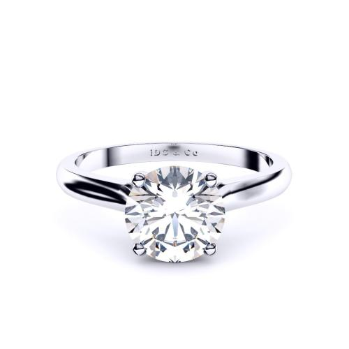 Perth diamond engagement ring 4 claw solitaire in white gold