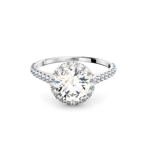 Perth Diamond Company classic halo engagement ring