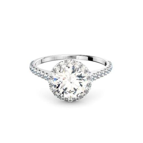Perth Diamond Company classic halo engagement ring