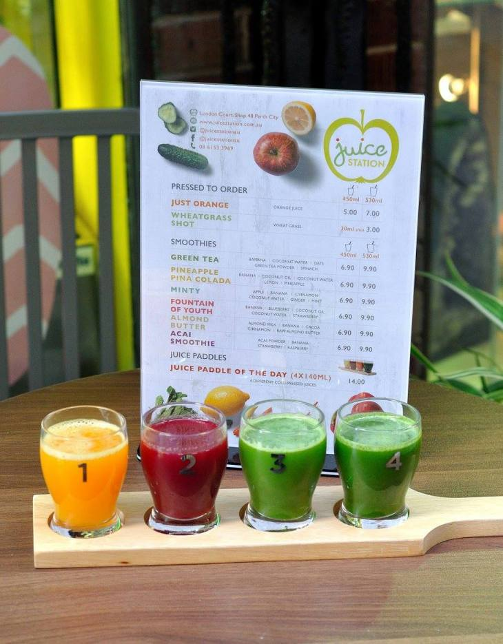 Juice Paddles at Juice Station