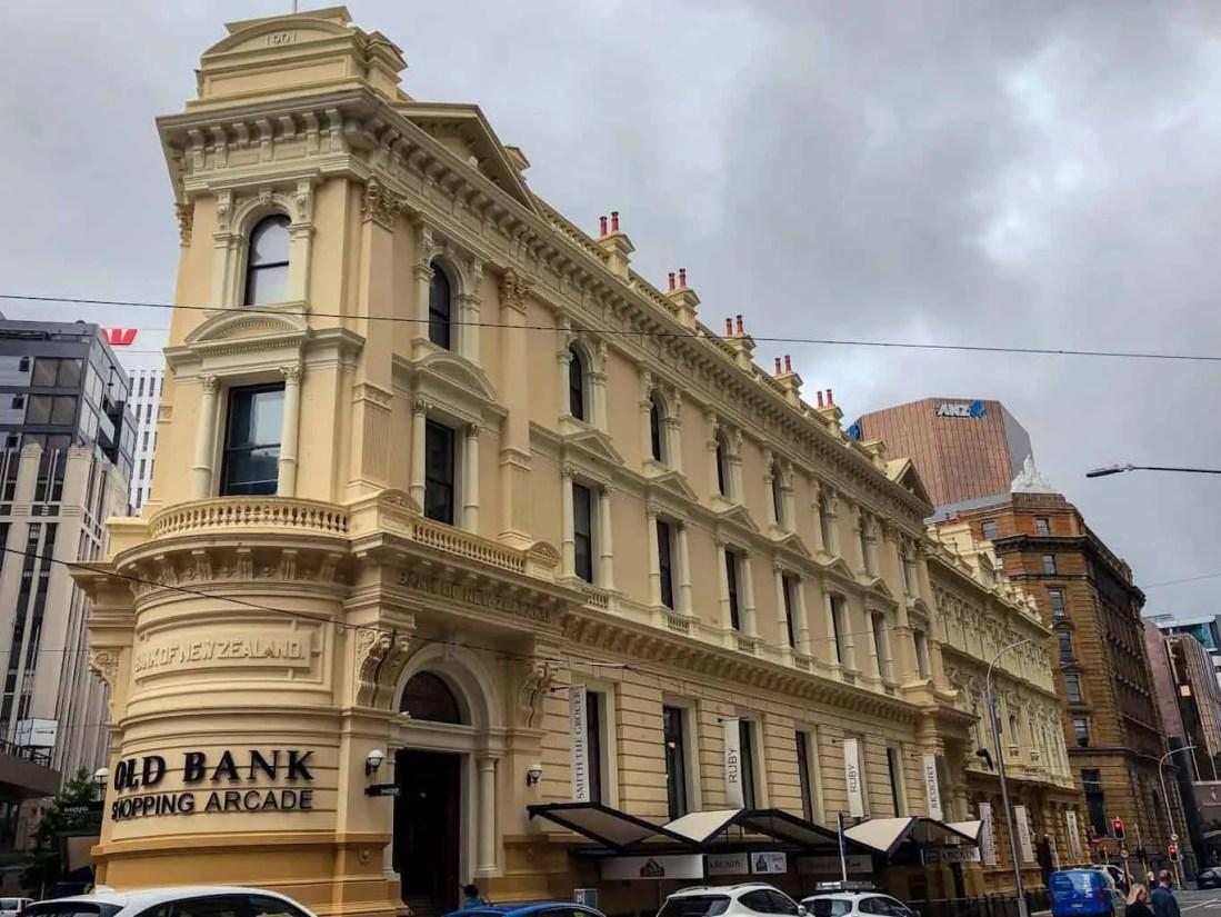 Old Bank Shopping Arcade building Wellington