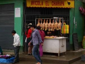 Cuy, Meerschweinchen, peruanisches Gericht,