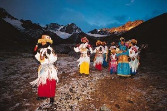 La fiesta del Qoyllur Rit'i en el valle de Sinakara.