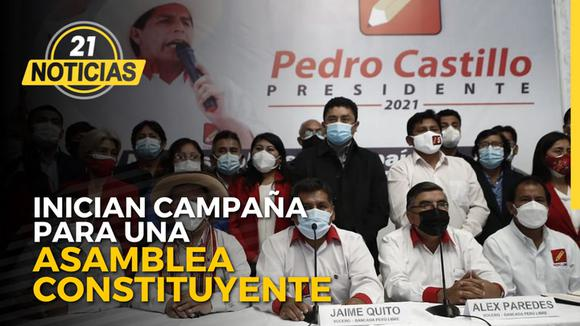 Peru Libre started campaign for a Constituent Assembly.