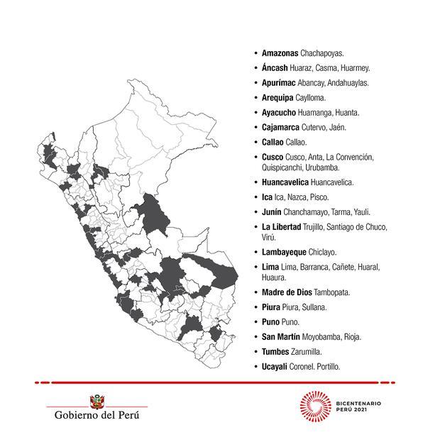 Provincias en alerta sanitaria extremohasta el 9 de mayo.