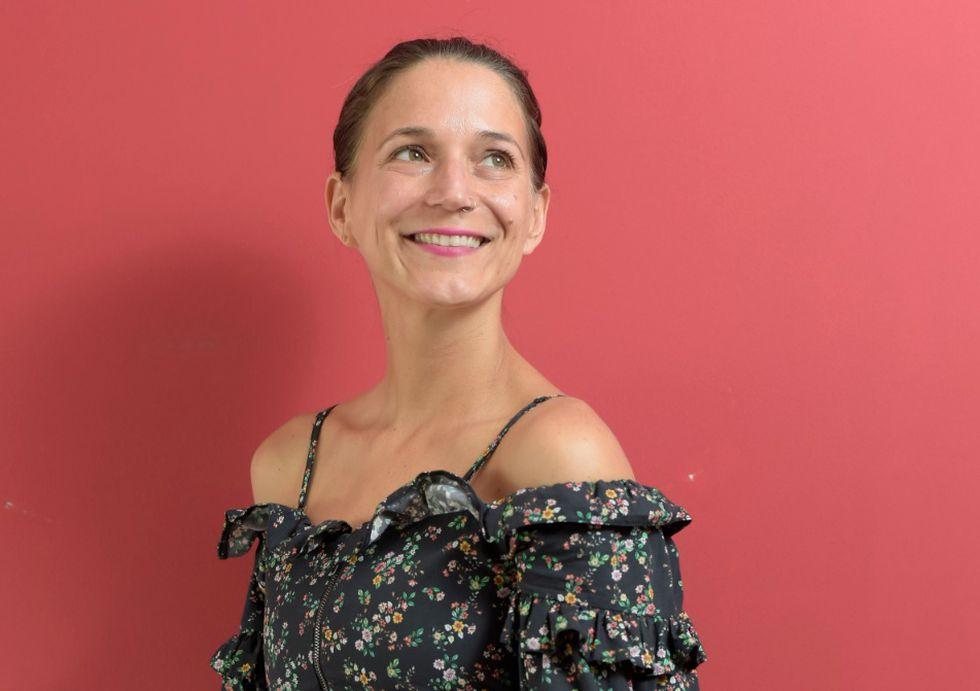 Lorena Salmón, maestra en yoga.
