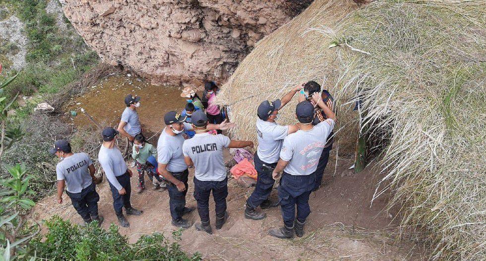 Huancavelica: con apoyo de los agentes de la comisaría de Moya, la familia  Gómez Vilcañaupa pasarán unos días de tranquilidad.