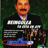 """Alberto Beingolea y la gente de """"Goles en Acción"""" forman """"El Equipo"""" enATV-1999"""