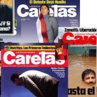 Las mejores portadas de Caretas de los años 1995-2001.