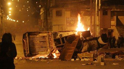 El último jueves se produjeron varios actos de violencia. (Foto: Internet)