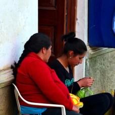 Pobladores de Chacas.