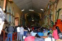 Iglesia en Misa por la festividad en Honor a la Virgen de la Candelaria.